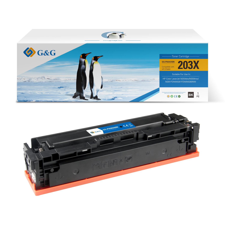 Compatible G&G HP CF540X/CF540A/CF400X/CF400A toner negro - Reemplaza 203X/203A/201X/201A
