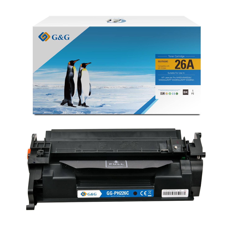 Compatible G&G HP CF226A toner negro - Reemplaza 26A