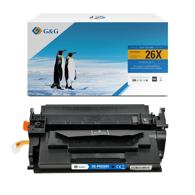 Compatible G&G HP CF226X toner negro - Reemplaza 26X