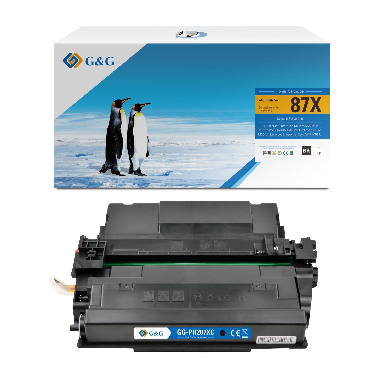 Compatible G&G HP CF287X toner negro - Reemplaza 87X