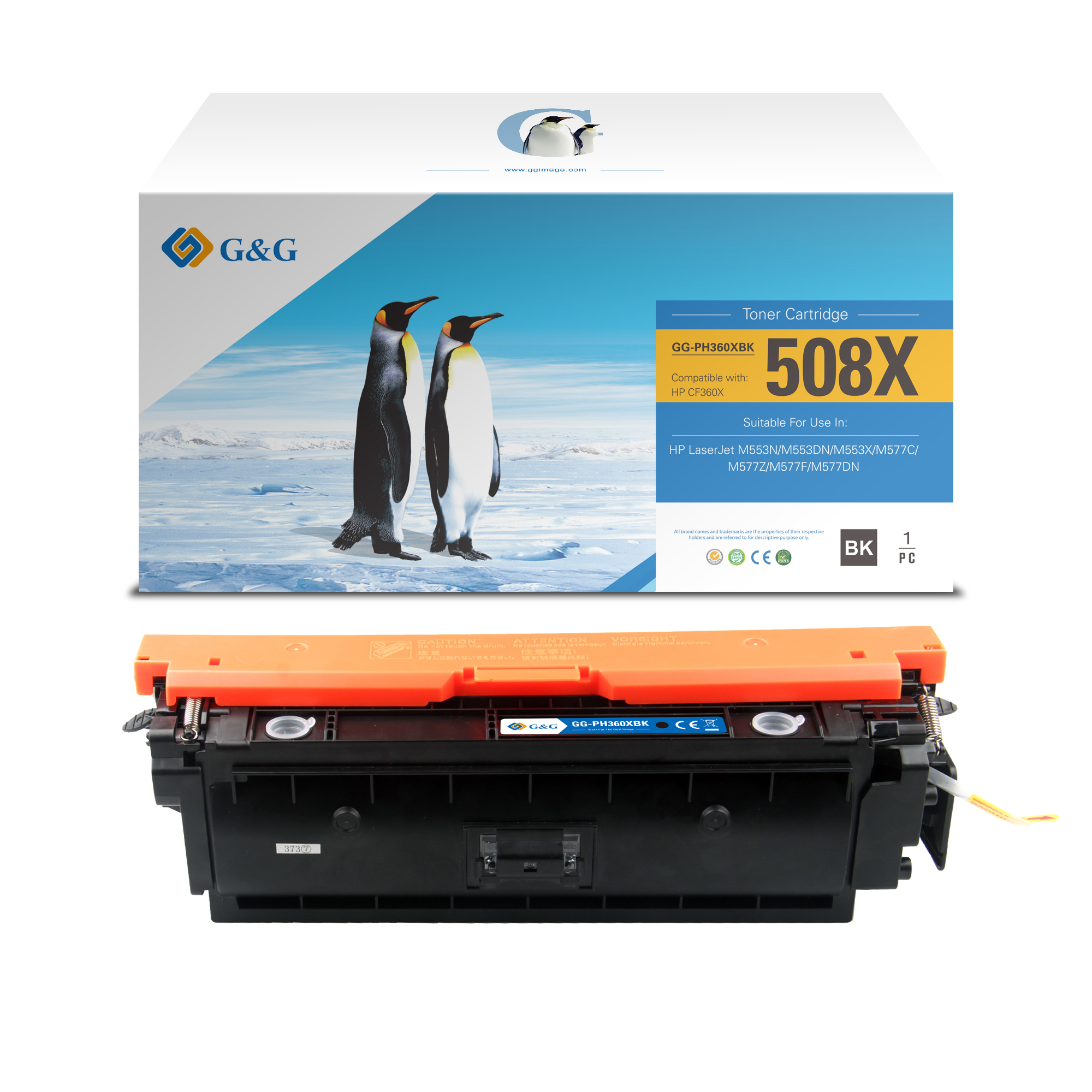 Compatible G&G HP CF360X toner negro - Reemplaza 508X