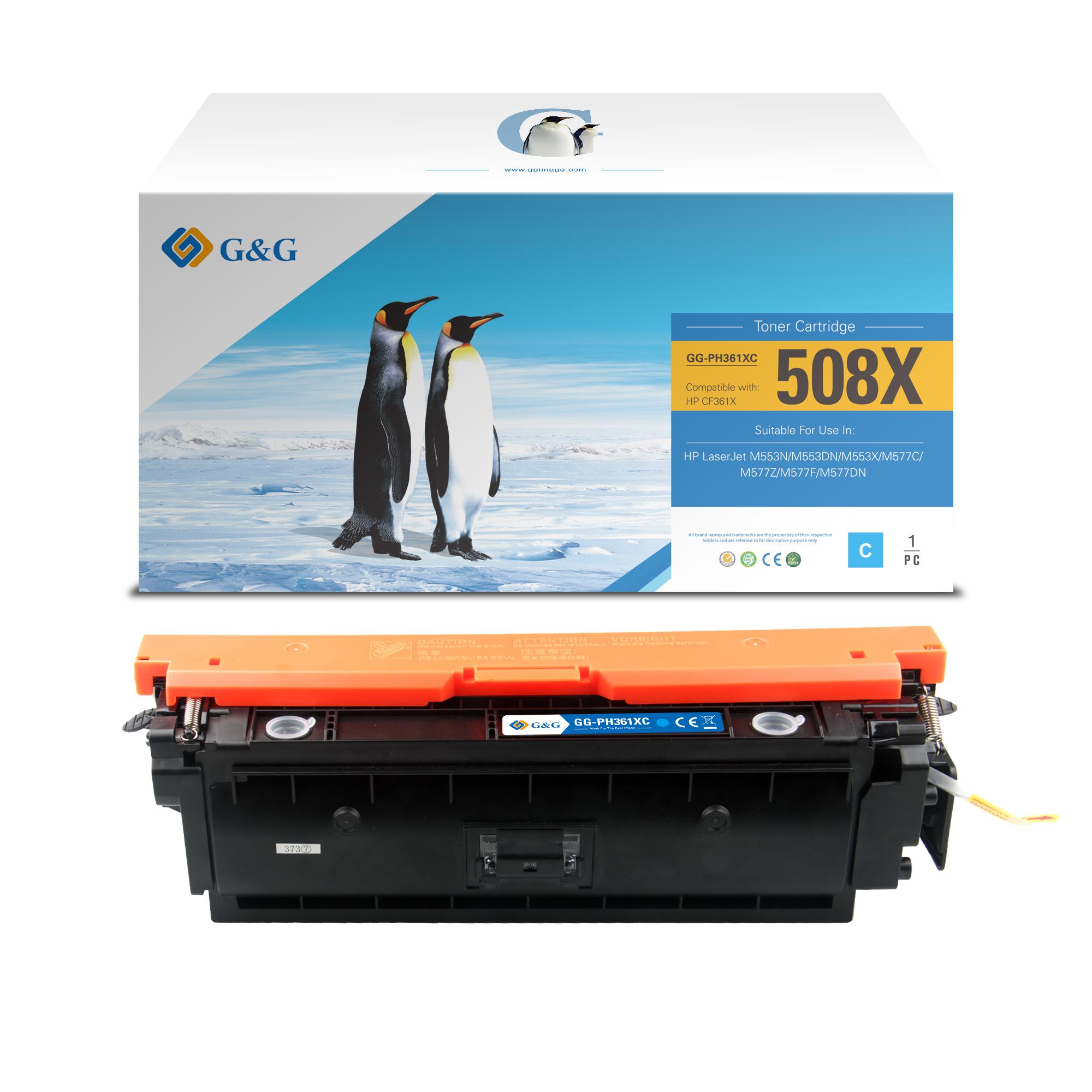 Compatible G&G HP CF361X toner cian - Reemplaza 508X