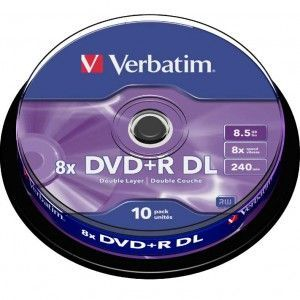 Verbatim DVD+R Doble Capa 8x 8.5GB (Tarrina 10 Uds)
