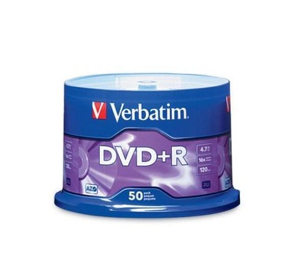 Verbatim DVD+R 16x 4.7GB (Tarrina 50 Uds)