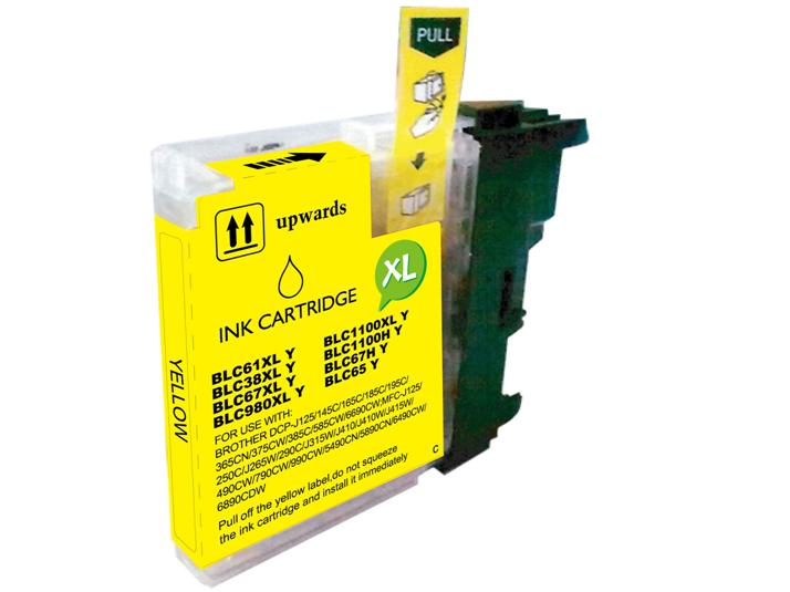 BROTHER LC980XL/LC1100XL AMARILLO CARTUCHO DE TINTA GENERICO