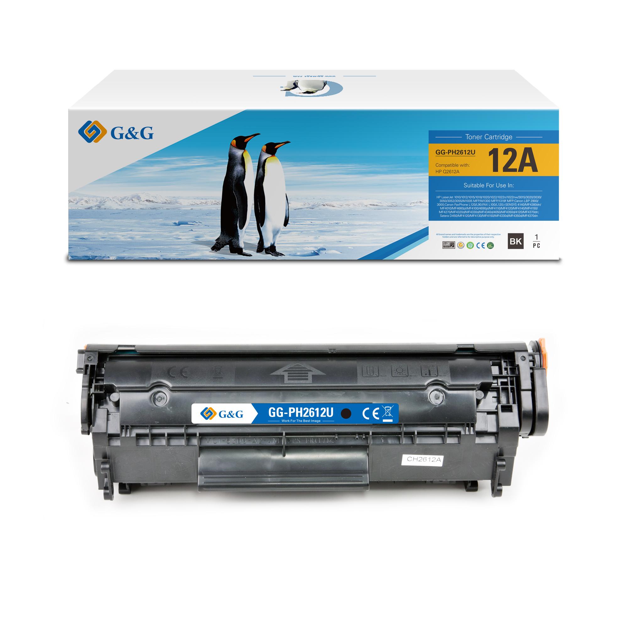 Compatible G&G HP Q2612A toner negro - Reemplaza 12A