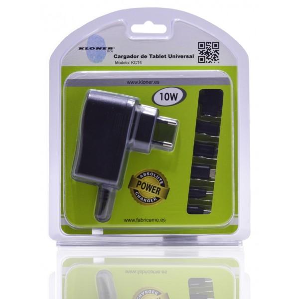 Kloner KCT4 Alimentador de Hogar Universal para Tablet 10W + 6 Conectores