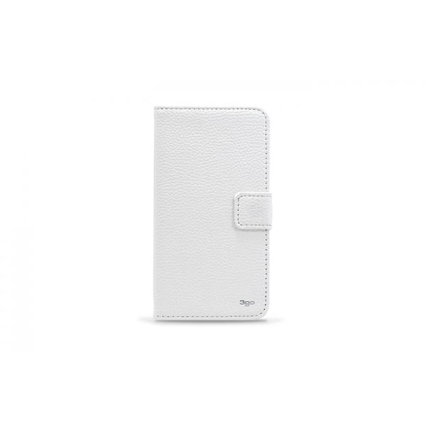 3GO Droxio B51 Funda Flip Cover Piel Blanca