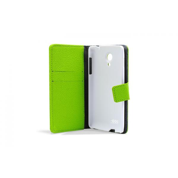 3GO Droxio B45 Funda Flip Cover Piel Verde