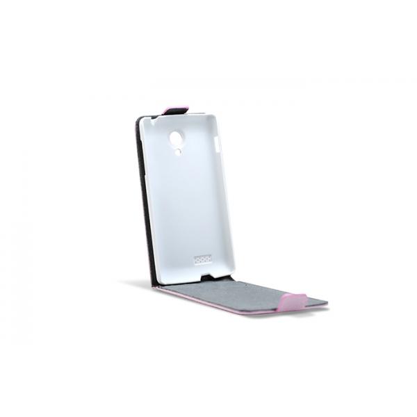3GO Droxio B45 Funda Flip Cover Vertical Piel Rosa