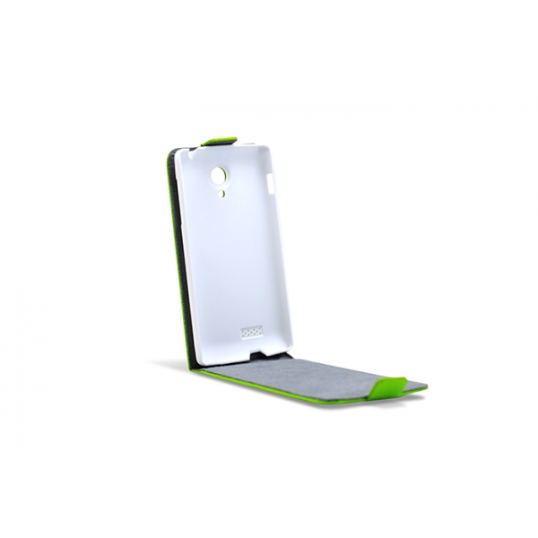 3GO Droxio B45 Funda Flip Cover Vertical Piel Verde