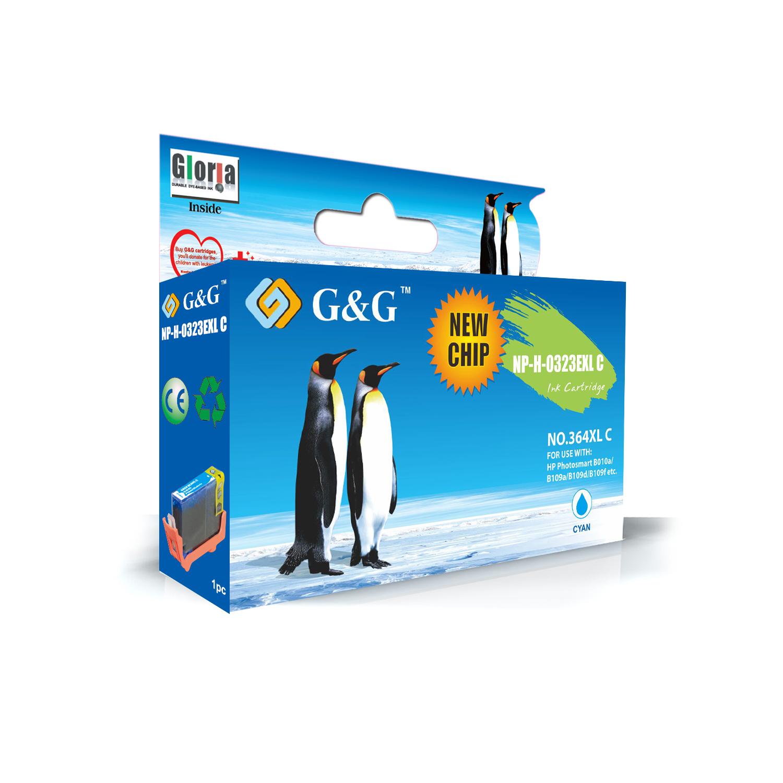 G&G HP 364XL V2 CYAN CARTUCHO DE TINTA GENERICO CB323EE/CB318EE