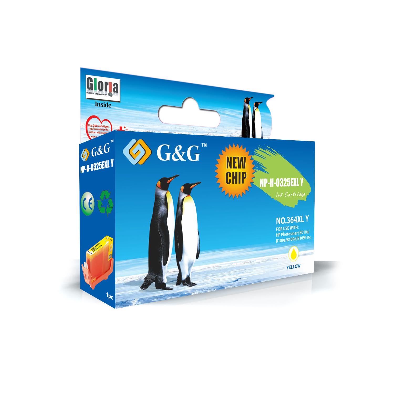 G&G HP 364XL V2 AMARILLO CARTUCHO DE TINTA GENERICO CB325EE/CB320EE