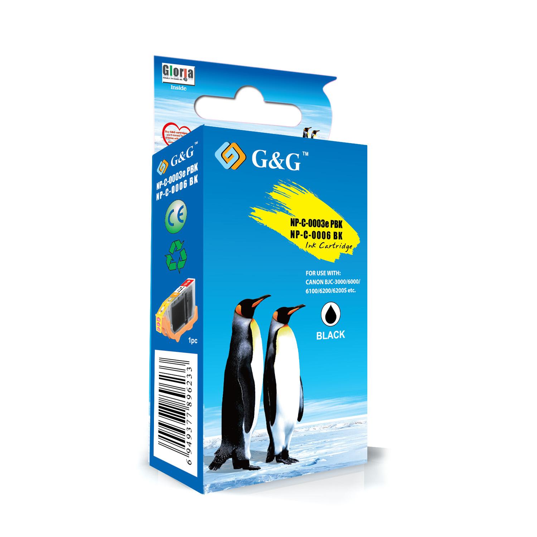 G&G CANON BCI6/BCI5/BCI3 NEGRO CARTUCHO DE TINTA GENERICO 4705A002