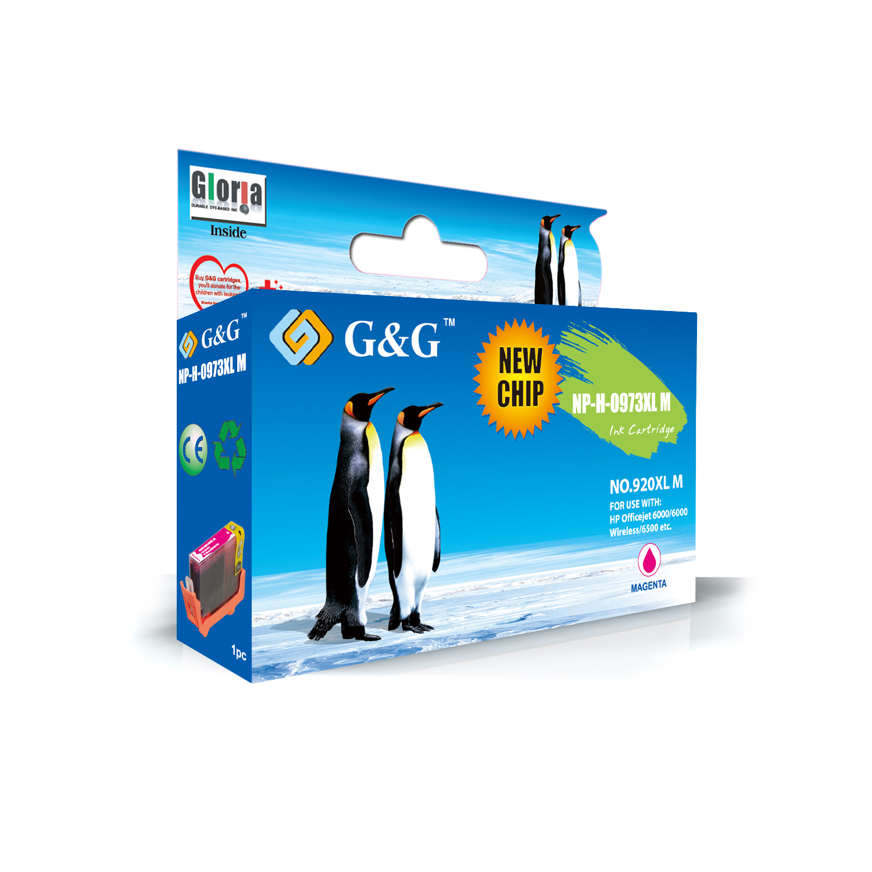 G&G HP 920XL V2 MAGENTA CARTUCHO DE TINTA GENERICO CD973AE