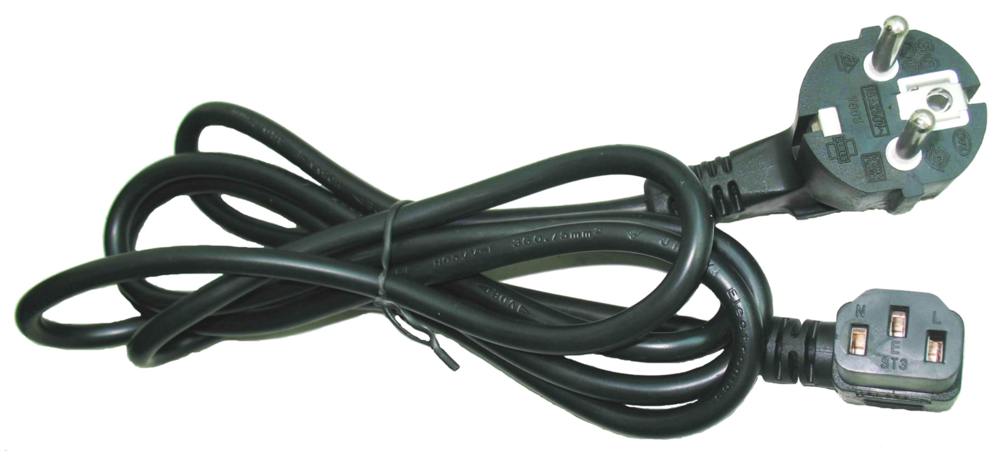 Gembird Cable de Alimentacion VDE 90? 1.8m