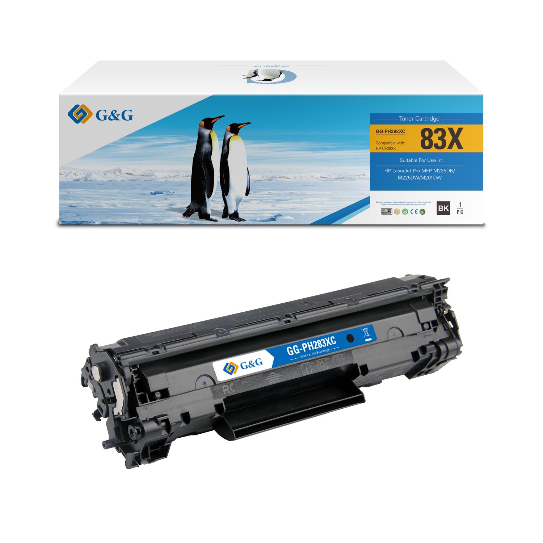 Compatible G&G HP CF283X toner negro - Reemplaza 83X