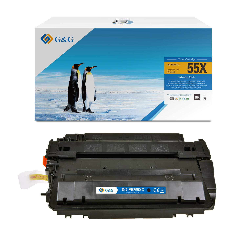 Compatible G&G HP CE255X toner negro - Reemplaza 55X