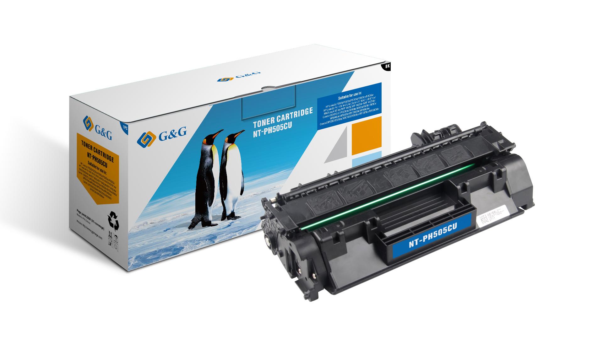 Compatible G&G HP CE505A/CF280A toner negro - Reemplaza 05A/80A