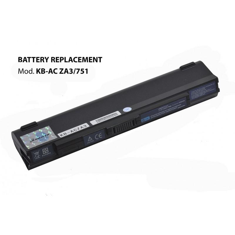 Kloner KB-AC-ZA3/751 Bateria para Acer Aspire 4400mAh 10.8V