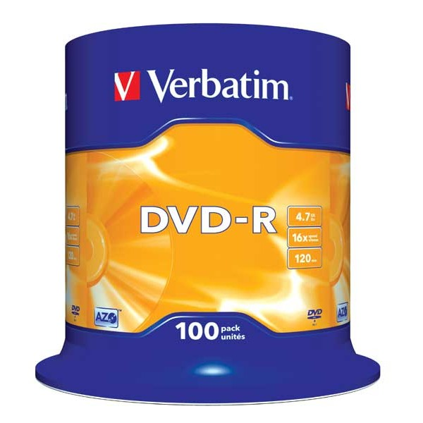 Verbatim DVD-R 16x 4.7GB (Tarrina 100 Uds)