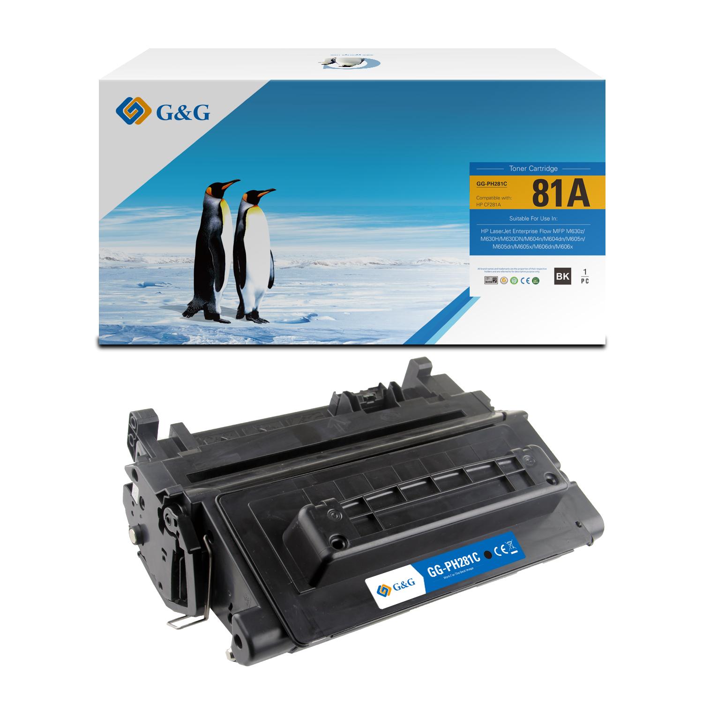 Compatible G&G HP CF281A toner negro - Reemplaza 81A