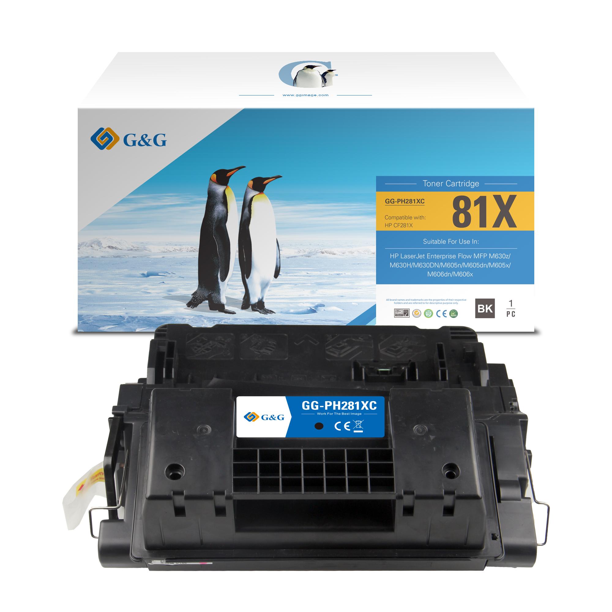 Compatible G&G HP CF281X toner negro - Reemplaza 81X