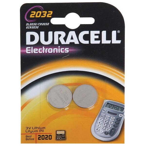 Duracell DL2032B2 Pila de Boton de Litio CR2032 3V (2 unidades)
