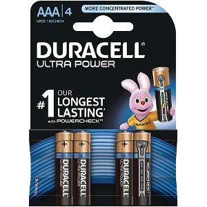 Duracell MX2400B4 Pilas Alcalinas AAA LR03 1.5V Ultra Power (4 unidades)