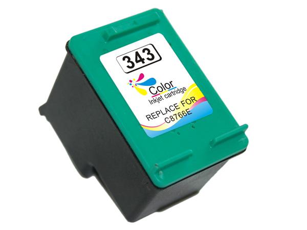 HP 343 tricolor Tinta remanufacturado c8766ee