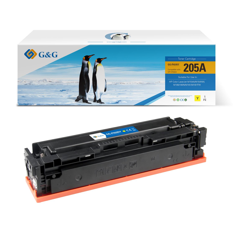 Compatible G&G HP CF532A toner amarillo - Reemplaza 205A