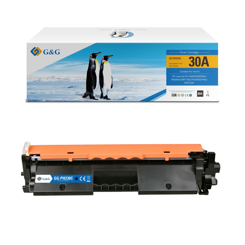 Compatible G&G HP CF230A toner negro - Reemplaza 30A