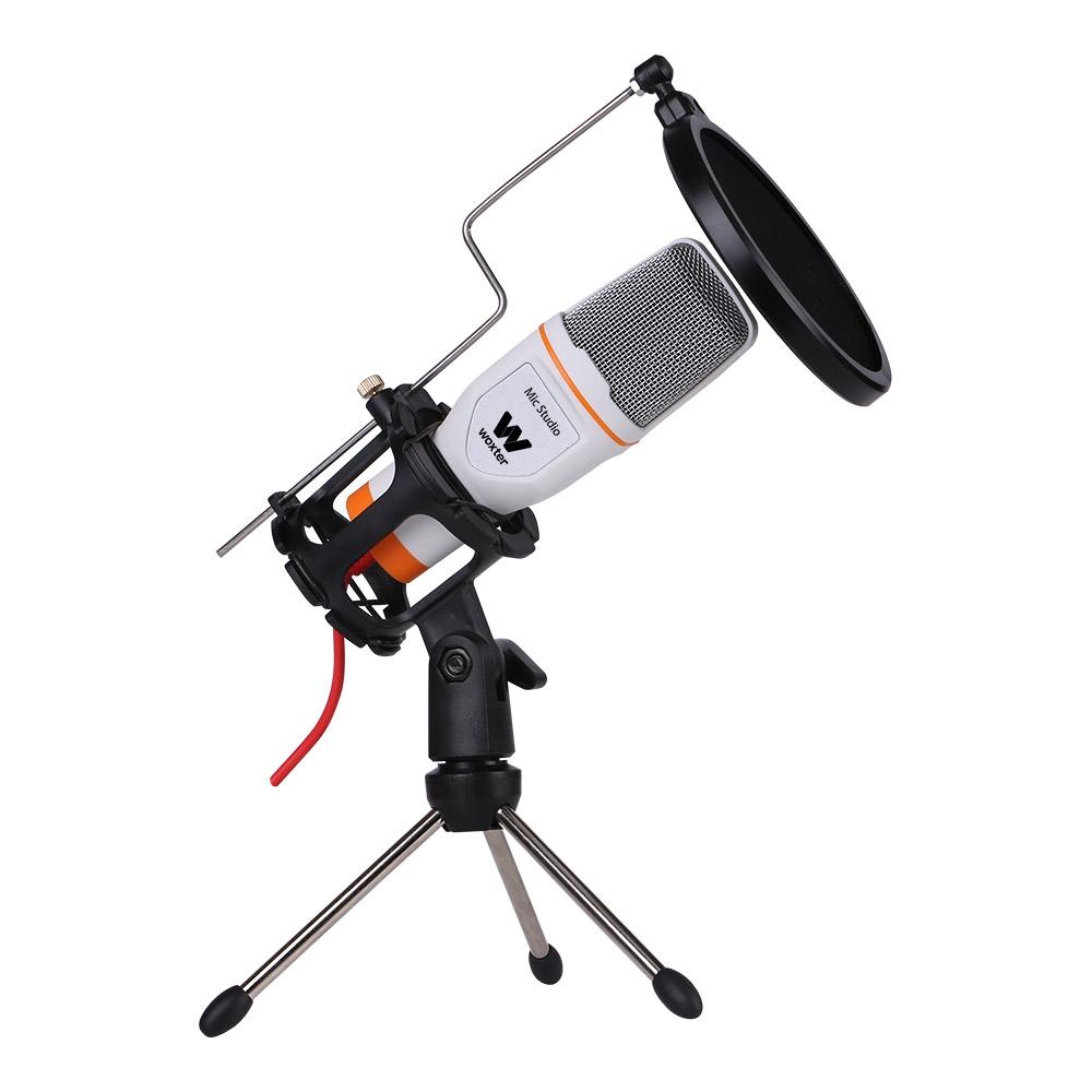 Woxter WE26-021 Microfono Condensador Studio Blanco