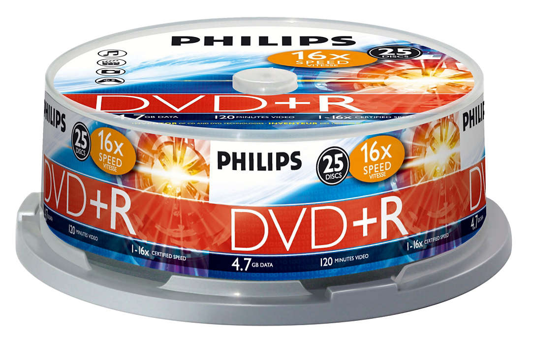Philips DR4S6B25F/00 DVD+R 16x 4.7GB 120min (Tarrina 25 Uds)