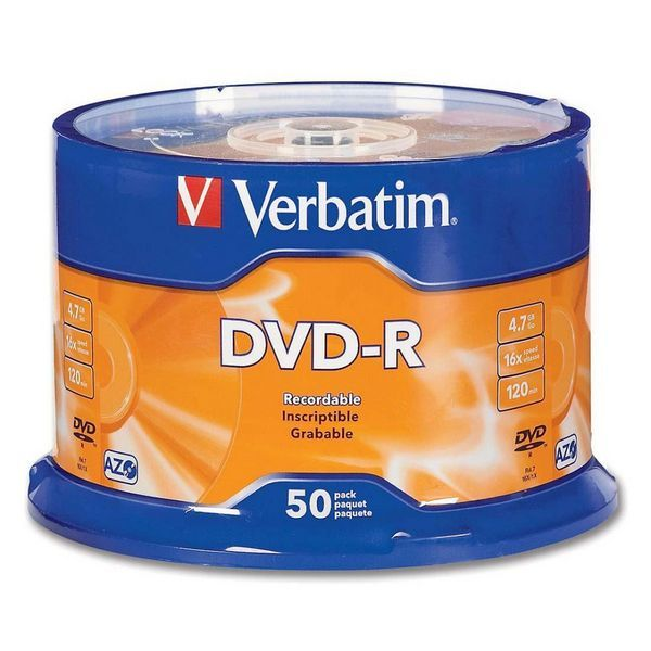 Verbatim DVD-R 16x 4.7GB (Tarrina 50 Uds)