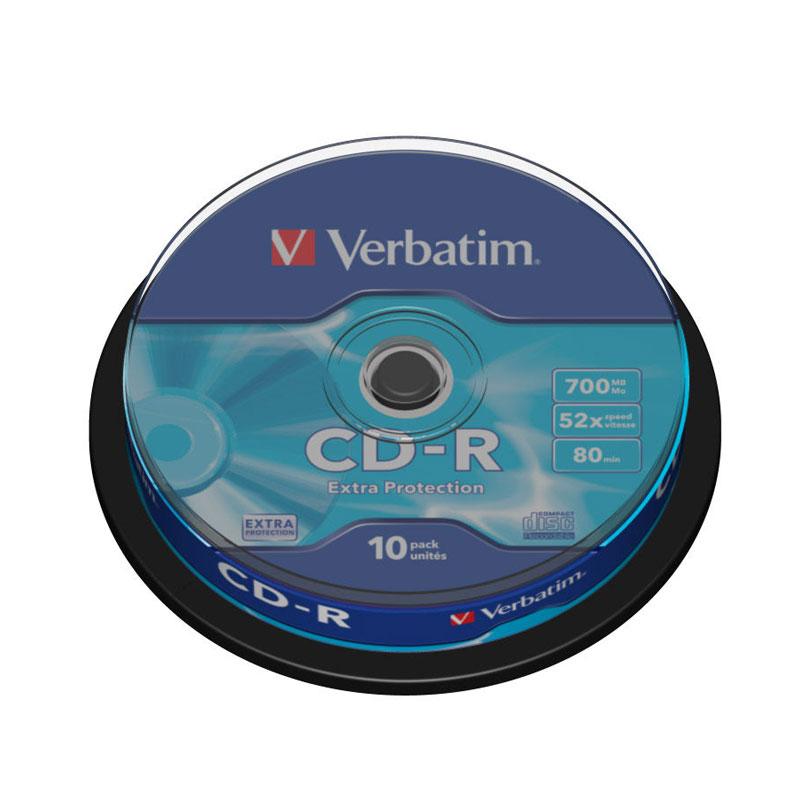 Verbatim CD-R 52x 700MB (Tarrina 10 Uds)