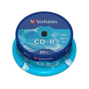 Verbatim CD-R 52x 700MB (Tarrina 25 Uds)