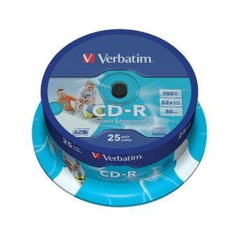 Verbatim CD-R Printables 52x 700MB (Tarrina 25 Uds)