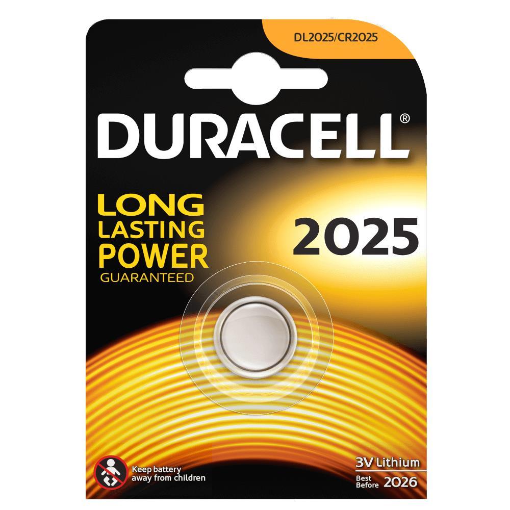 Duracell DL2025 Pila de Boton de Litio CR2025 3V (1 unidad)