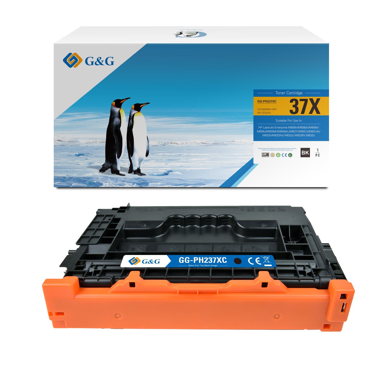 Compatible G&G HP CF237X toner negro - Reemplaza 37X