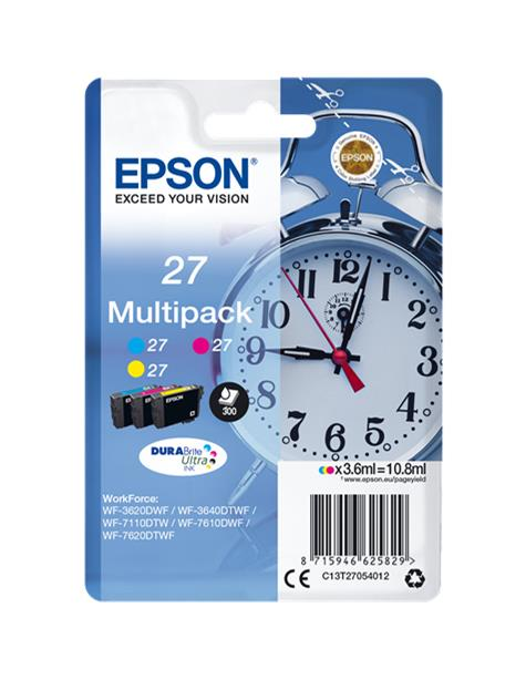 EPSON T2705 MULTIPACK ORIGINAL 3 CARTUCHOS C13T27054010