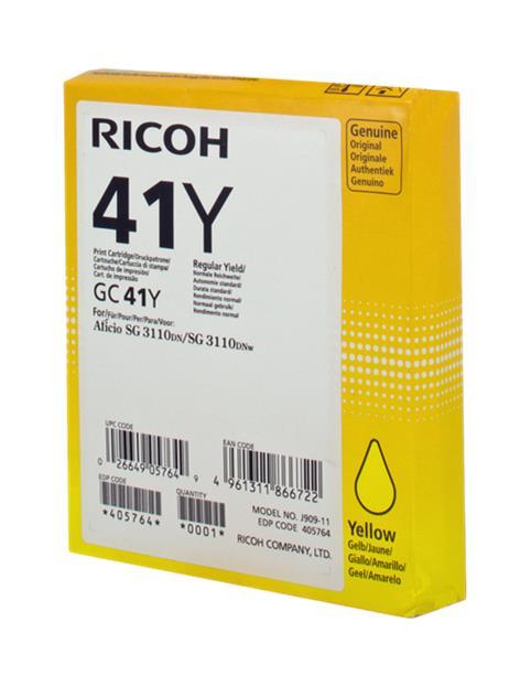 RICOH GC41 AMARILLO CARTUCHO DE GEL ORIGINAL 405764