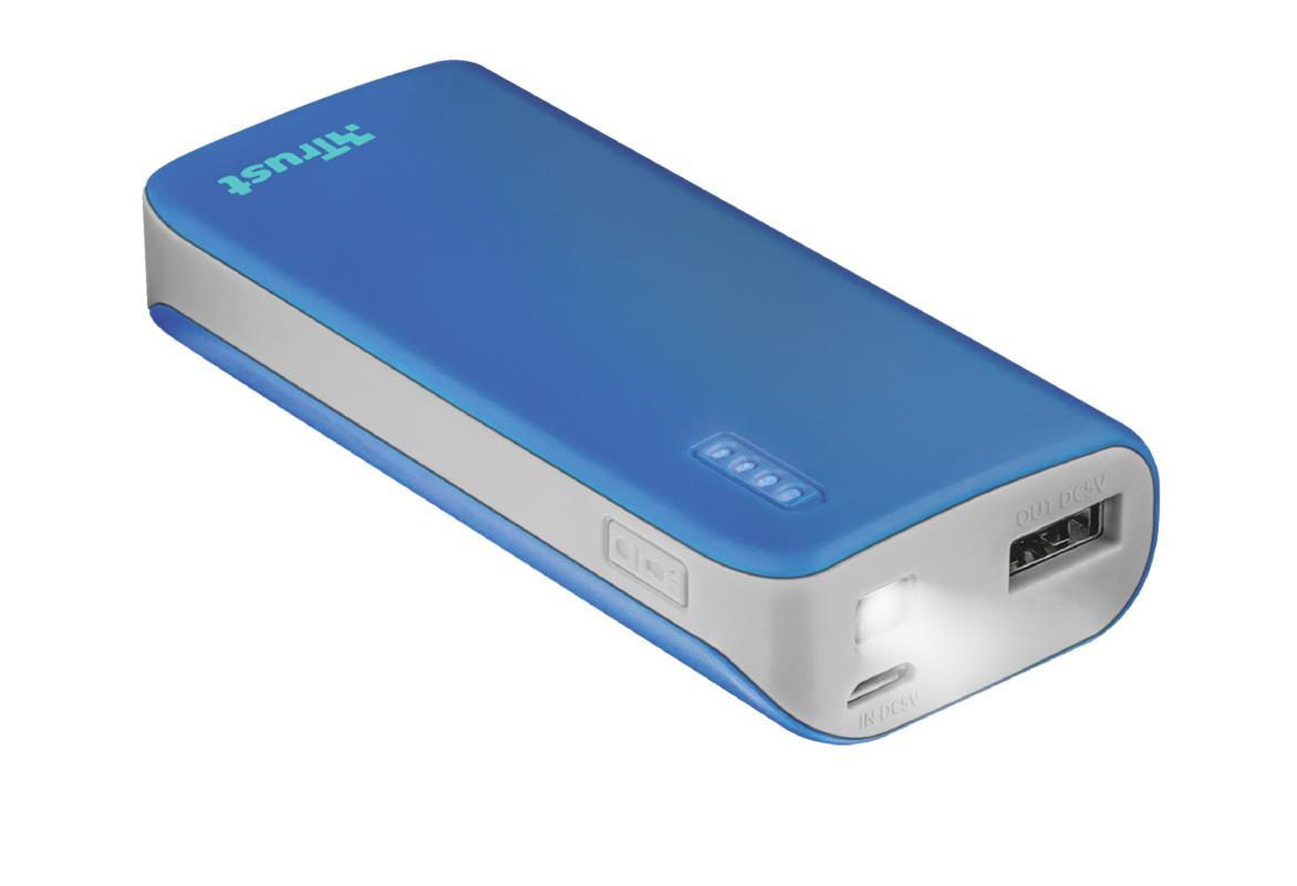 Trust 21225 Bateria Externa/Power Bank 4400mAh Azul