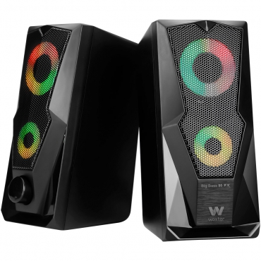 Woxter GM26-060 Altavoces Gaming 2.0 Big Bass 80FX 15W Negro