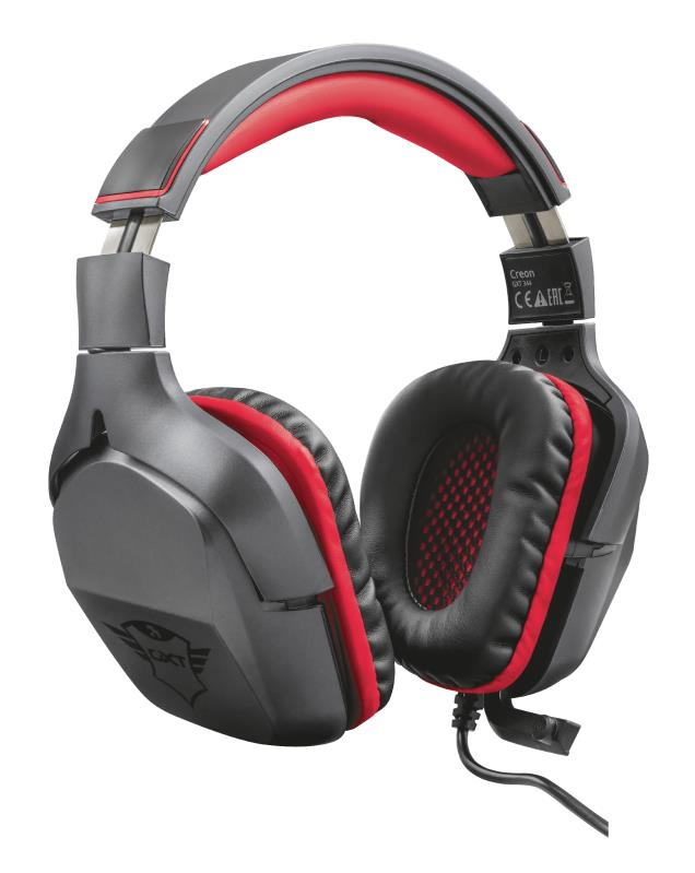 Trust 22053 Auriculares con Microfono Gaming GXT 344 Creon Negro