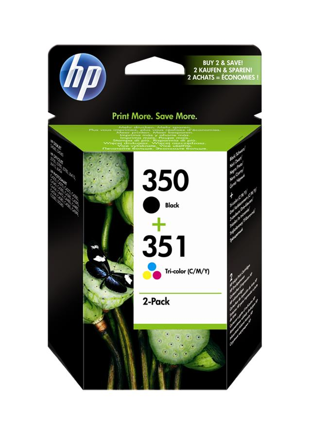 HP 350 NEGRO + 351 TRICOLOR MULTIPACK ORIGINAL SD412EE