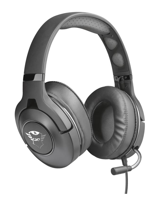Trust 22897 Auriculares con Microfono Gaming GXT 420 Rath Negro