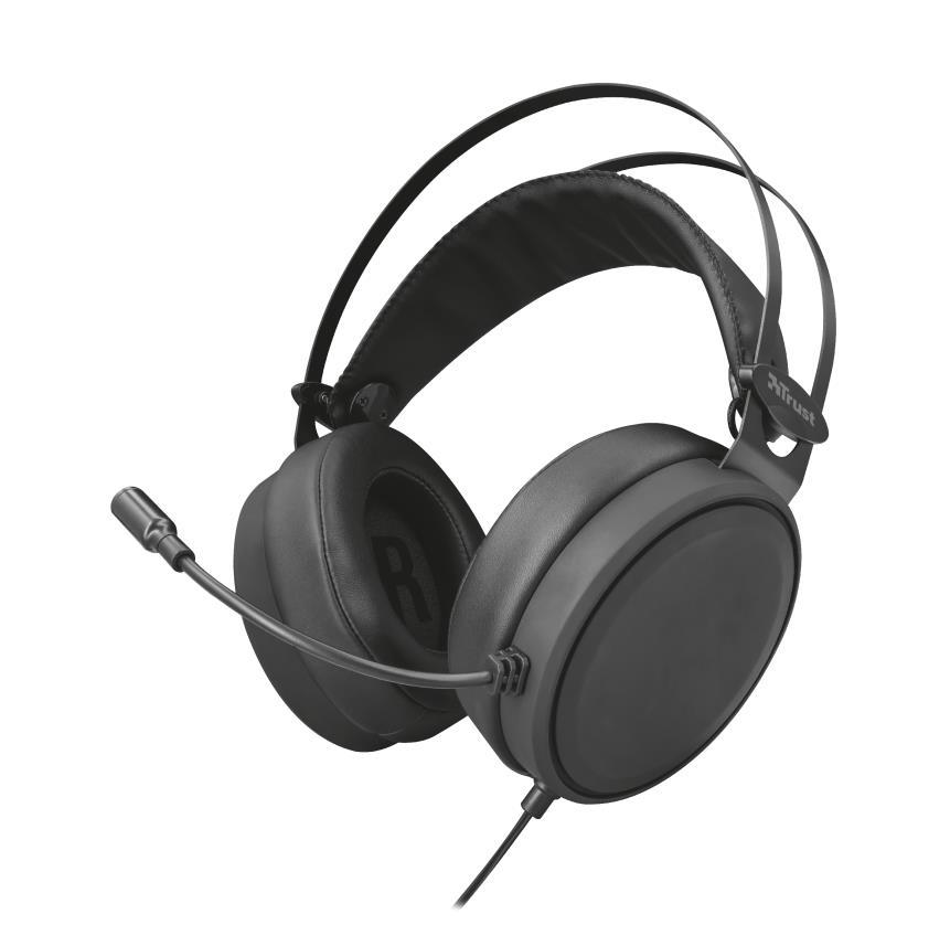 Trust 22868 Auriculares con Microfono USB Lano Negro