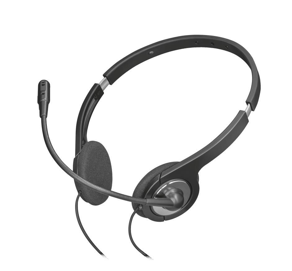 Trust 23109 Auriculares con Microfono Ilux Negro