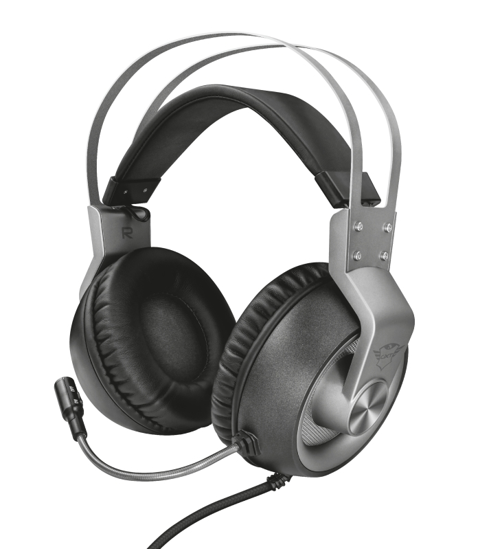 Trust 23209 Auriculares con Microfono Gaming GXT 430 Ironn Gris